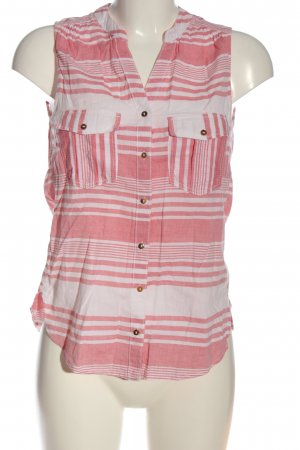 H&M L.O.G.G. Hemd-Bluse pink-weiß Allover-Druck Casual-Look