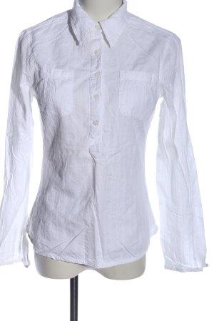 H&M L.O.G.G. Hemd-Bluse weiß Business-Look