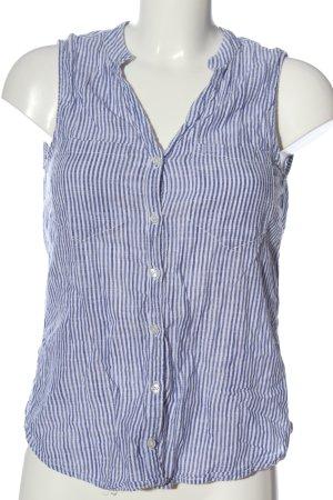 H&M L.O.G.G. Hemd-Bluse blau-weiß Allover-Druck Casual-Look