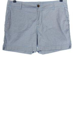 H&M L.O.G.G. High-Waist-Shorts blau-weiß Casual-Look