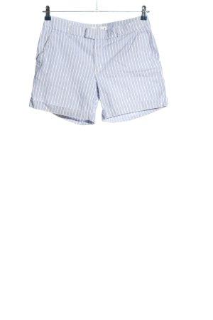 H&M L.O.G.G. High-Waist-Shorts hellgrau-weiß Streifenmuster Casual-Look