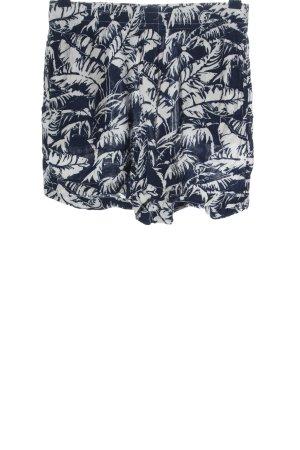 H&M L.O.G.G. High-Waist-Shorts blau-wollweiß Allover-Druck Casual-Look