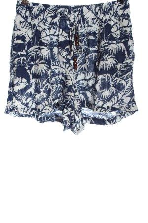 H&M L.O.G.G. High-Waist-Shorts blau-weiß Allover-Druck Elegant