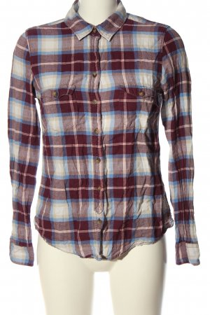 H&M L.O.G.G. Holzfällerhemd rot-weiß Allover-Druck Casual-Look