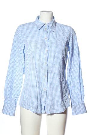 H&M L.O.G.G. Holzfällerhemd blau-weiß Karomuster Casual-Look
