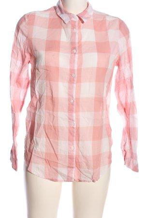 H&M L.O.G.G. Koszula w kratę biały-różowy Na całej powierzchni
