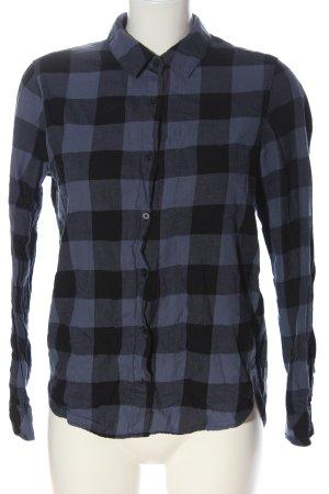 H&M L.O.G.G. Koszula w kratę niebieski-czarny Wzór w kratkę W stylu casual