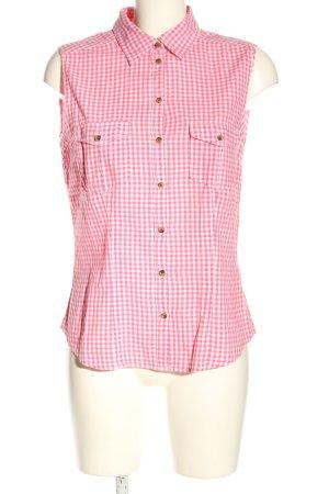 H&M L.O.G.G. Lumberjack Shirt pink-white allover print business style