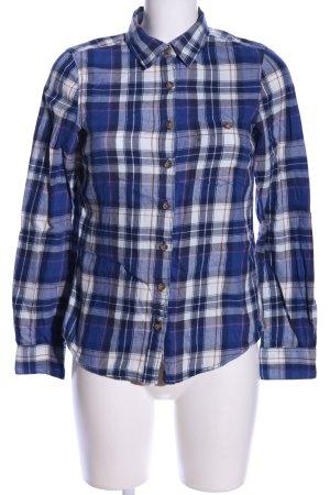 H&M L.O.G.G. Holzfällerhemd blau-weiß Allover-Druck Casual-Look