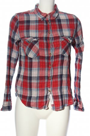 H&M L.O.G.G. Camisa de leñador rojo-gris claro estampado a cuadros look casual