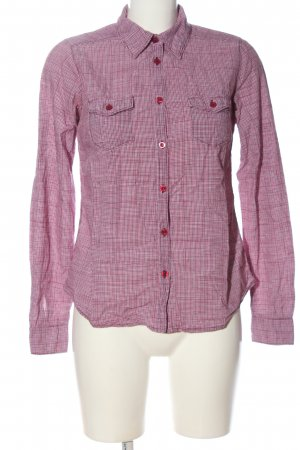 H&M L.O.G.G. Holzfällerhemd pink Karomuster Casual-Look