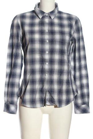 H&M L.O.G.G. Holzfällerhemd blau-weiß Karomuster Business-Look