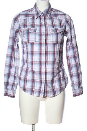 H&M L.O.G.G. Camisa de leñador azul-blanco estampado a cuadros look casual