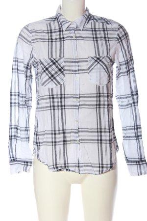 H&M L.O.G.G. Lumberjack Shirt white-light grey check pattern business style