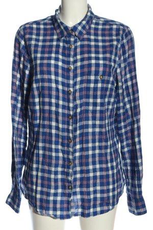 H&M L.O.G.G. Camisa de leñador azul-blanco look casual