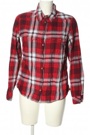 H&M L.O.G.G. Holzfällerhemd rot-weiß Karomuster Casual-Look