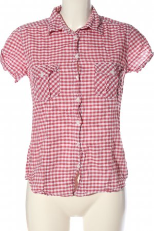 H&M L.O.G.G. Holzfällerhemd pink-weiß Allover-Druck Casual-Look