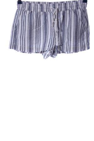 H&M L.O.G.G. Hot Pants weiß-blau Allover-Druck Casual-Look