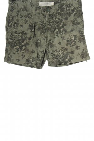 H&M L.O.G.G. Hot Pants khaki Allover-Druck Casual-Look