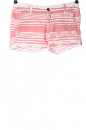 H&M L.O.G.G. Hot Pants pink-weiß Streifenmuster Casual-Look