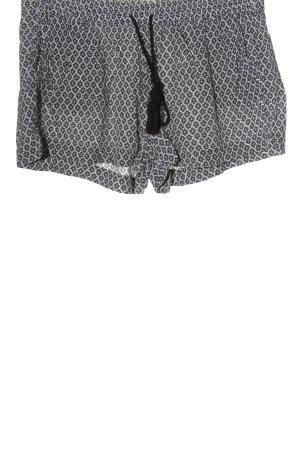 H&M L.O.G.G. Hot Pants schwarz-weiß Allover-Druck Casual-Look
