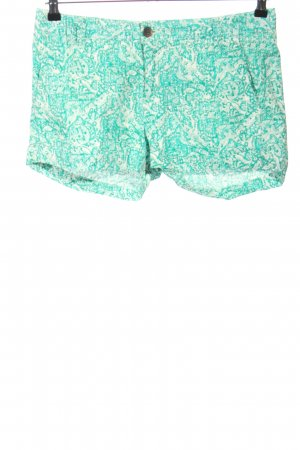 H&M L.O.G.G. Hot Pants türkis-weiß Allover-Druck Casual-Look