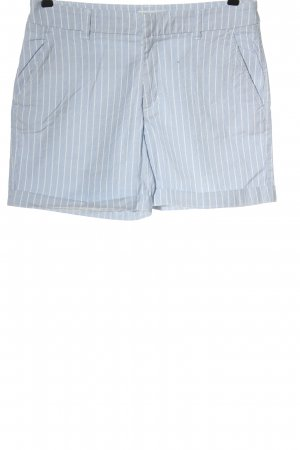 H&M L.O.G.G. Hot Pants blue-white striped pattern casual look