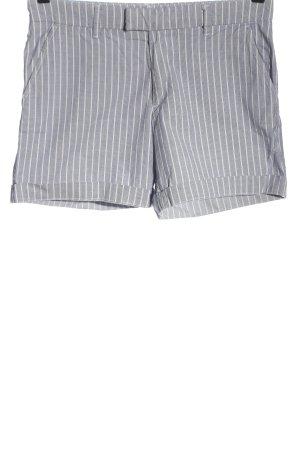 H&M L.O.G.G. Hot Pants blau-weiß meliert Casual-Look