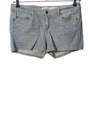 H&M L.O.G.G. Hot Pants blau-weiß Allover-Druck Casual-Look