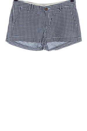 H&M L.O.G.G. Hot Pants blau-weiß Karomuster Casual-Look