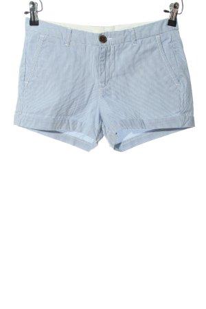 H&M L.O.G.G. Hot Pants blau-weiß Streifenmuster Casual-Look
