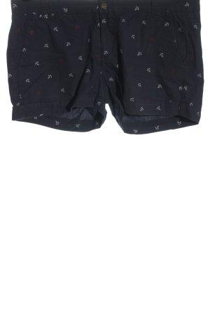 H&M L.O.G.G. Hot Pants schwarz Motivdruck Casual-Look