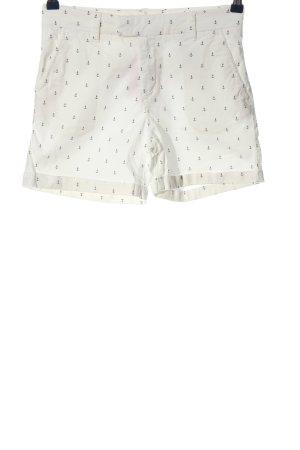 H&M L.O.G.G. Hot Pants weiß-schwarz Allover-Druck Casual-Look