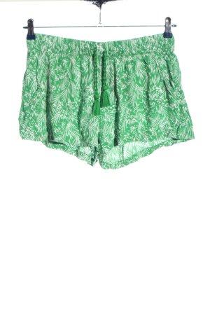H&M L.O.G.G. Hot Pants grün-weiß Allover-Druck Casual-Look