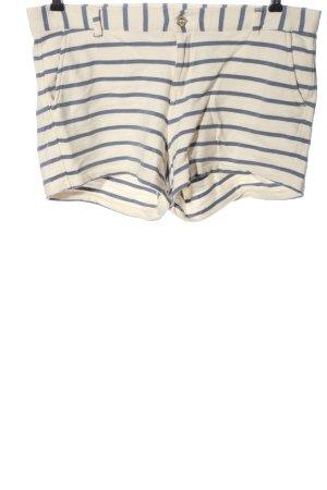 H&M L.O.G.G. Hot Pants creme-blau Streifenmuster Casual-Look