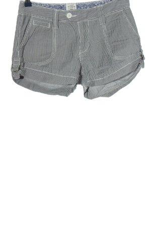 H&M L.O.G.G. Hot Pants hellgrau-weiß Streifenmuster Casual-Look