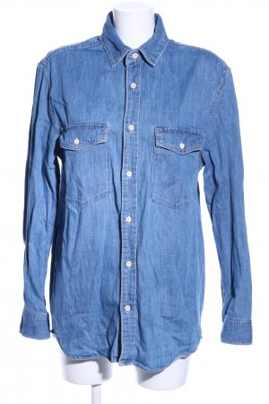 H&M L.O.G.G. Jeansbluse blau Casual-Look
