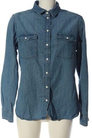 H&M L.O.G.G. Jeanshemd blau Casual-Look