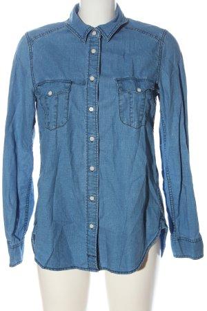 H&M L.O.G.G. Spijkershirt blauw casual uitstraling