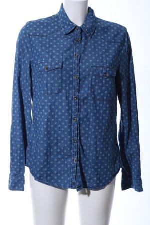 H&M L.O.G.G. Spijkershirt blauw-wit volledige print casual uitstraling