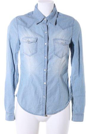 H&M L.O.G.G. Camisa vaquera azul look casual