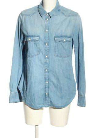 H&M L.O.G.G. Jeansowa koszula niebieski W stylu casual