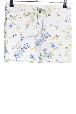 H&M L.O.G.G. Jupe en jeans motif de fleur style décontracté
