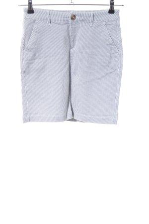 H&M L.O.G.G. Jeansrock hellgrau-weiß Streifenmuster Casual-Look