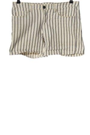H&M L.O.G.G. Jeansshorts weiß-schwarz Streifenmuster Casual-Look