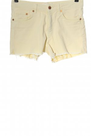 H&M L.O.G.G. Jeansshorts creme Casual-Look