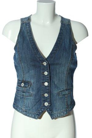 H&M L.O.G.G. Jeansowa kamizelka niebieski W stylu casual