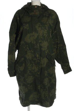 H&M L.O.G.G. Kapuzenjacke khaki Allover-Druck Casual-Look
