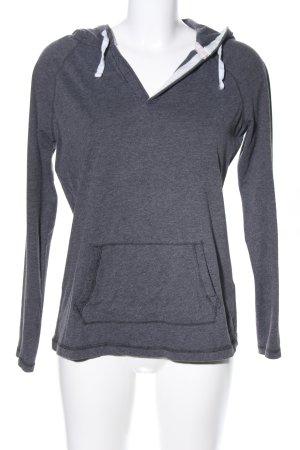 H&M L.O.G.G. Shirt met capuchon lichtgrijs gestippeld casual uitstraling