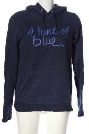 H&M L.O.G.G. Kapuzensweatshirt blau meliert Casual-Look